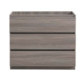 Lazzaro 42'' Freestanding Single Bathroom Vanity Cabinet in Gray Wood Finish, 39-3/10'' W x 18-2/5'' D x 34-3/10'' H