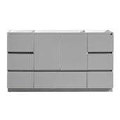 Lazzaro 60'' Freestanding Single Bathroom Vanity Cabinet in Gray Finish, 59-1/10'' W x 18-2/5'' D x 34-3/10'' H