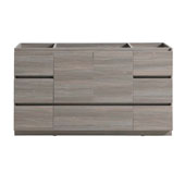 Lazzaro 60'' Freestanding Single Bathroom Vanity Cabinet in Gray Wood Finish, 59-1/10'' W x 18-2/5'' D x 34-3/10'' H