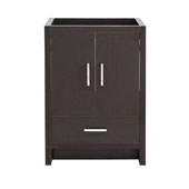 Imperia 24'' Freestanding Single Bathroom Cabinet in Dark Gray Oak Finish, 23-3/5'' W x 18-2/5'' D x 34-3/10'' H
