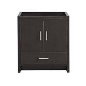 Imperia 30'' Freestanding Single Bathroom Cabinet in Dark Gray Oak Finish, 29-1/2'' W x 18-2/5'' D x 34-3/10'' H