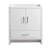 Imperia 30'' Freestanding Single Bathroom Cabinet in Glossy White Finish, 29-1/2'' W x 18-2/5'' D x 34-3/10'' H