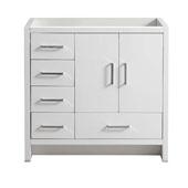 Imperia 36'' Freestanding Single Left-Styled Bathroom Vanity Cabinet in Glossy White Finish, 35-1/2'' W x 18-2/5'' D x 34-3/10'' H