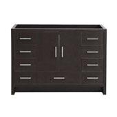 Imperia 48'' Freestanding Single Bathroom Cabinet in Dark Gray Oak Finish, 47-3/10'' W x 18-2/5'' D x 34-3/10'' H
