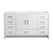 Imperia 60'' Freestanding Single Bathroom Vanity Cabinet in Glossy White Finish, 59-1/10'' W x 18-2/5'' D x 34-3/10'' H