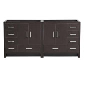 Imperia 72'' Freestanding Double Bathroom Vanity Cabinet in Dark Gray Oak Finish, 35-1/2'' W x 18-2/5'' D x 34-3/10'' H