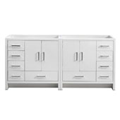 Imperia 72'' Freestanding Double Bathroom Vanity Cabinet in Glossy White Finish, 35-1/2'' W x 18-2/5'' D x 34-3/10'' H
