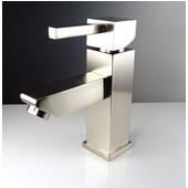 Versa Single Hole Mount Bathroom Vanity Faucet in Brushed Nickel, Dimensions: 1-5/8'' W x 6'' D x 6-3/4'' H