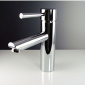 Tartaro Single Hole Mount Bathroom Vanity Faucet in Chrome, Dimensions: 1-3/4'' W x 6-1/8'' D x 7-3/8'' H