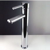 Tolerus Single Hole Vessel Mount Bathroom Vanity Faucet in Chrome, Dimensions: 1-3/4'' W x 6-1/8'' D x 13-1/4'' H