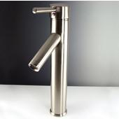 Soana Single Hole Vessel Mount Bathroom Vanity Faucet in Brushed Nickel, Dimensions: 2'' W x 5-1/8'' D x 12-5/8'' H