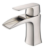 Fortore Single Hole Mount Bathroom Vanity Faucet in Brushed Nickel, Dimensions: 2-1/5'' W x 5-45/64'' D x 6-4/5'' H