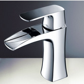 Fortore Single Hole Mount Bathroom Vanity Faucet in Chrome, Dimensions: 2-1/5'' W x 5-45/64'' D x 6-4/5'' H