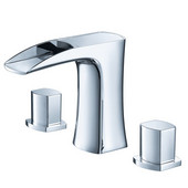 Fortore Widespread Mount Bathroom Vanity Faucet in Chrome, Dimensions: 9'' W x 4-4/5'' D x 5-1/5'' H