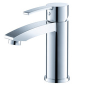 Livenza Single Hole Mount Bathroom Vanity Faucet in Chrome, Dimensions: 2'' W x 5-5/16'' D x 6'' H