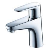 Diveria Single Hole Mount Bathroom Vanity Faucet in Chrome, Dimensions: 1-4/5'' W x 5-2/5'' D x 5-29/32'' H