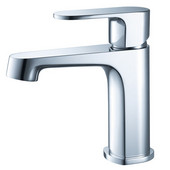 Gravina Single Hole Mount Bathroom Vanity Faucet in Chrome, Dimensions: 2'' W x 5-3/5'' D x 6-1/2'' H