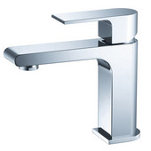 Allaro Single Hole Mount Bathroom Vanity Faucet in Chrome, Dimensions: 2'' W x 5-45/64'' D x 6-5/16'' H