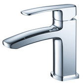 Fiora Single Hole Mount Bathroom Vanity Faucet in Chrome, Dimensions: 2'' W x 5-45/64'' D x 5-29/32'' H