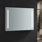 Tiempo 48'' Wide x 36'' Tall Bathroom Medicine Cabinet w/ LED Lighting & Defogger, 48'' W x 5'' D x 36'' H