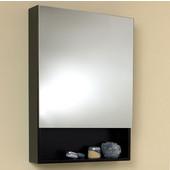 24'' Wide Espresso Bathroom Wall Mounted Frameless Medicine Cabinet with Small Bottom Shelf, Dimensions: 24''W x 33-1/2''H x 6''D