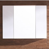 32'' White Medicine Cabinet with 3 Doors, Dimensions: 31-1/2''W x 6''D x 23-5/8''H