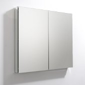 40'' Wide x 36'' Tall Bathroom Medicine Cabinet w/ Mirrors (2 Mirrored Doors), 39-1/2'' W x 5'' D x 36'' H