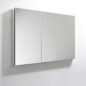 50'' Wide x 36'' Tall Bathroom Medicine Cabinet w/ Mirrors (3 Mirrored Doors), 49'' W x 5'' D x 36'' H