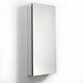 15'' Wide x 36'' Tall Bathroom Medicine Cabinet w/ Mirrors (1 Mirrored Door), 15'' W x 5'' D x 36'' H
