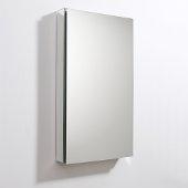 20'' Wide x 36'' Tall Bathroom Medicine Cabinet w/ Mirrors (1 Mirrored Door), 19-1/2'' W x 5'' D x 36'' H