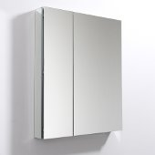30'' Wide x 36'' Tall Bathroom Medicine Cabinet w/ Mirrors (2 Mirrored Doors), 29-1/2'' W x 5'' D x 36'' H