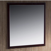 Oxford 32'' Mahogany White Mirror