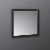 Manchester 30'' Black Traditional Bathroom Wall Mirror, 30'' W x 1'' D x 30'' H
