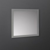 Manchester 30'' Gray Traditional Bathroom Wall Mirror, 30'' W x 1'' D x 30'' H