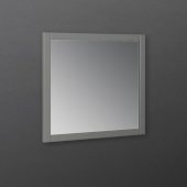 Manchester Regal 30'' Gray Wood Veneer Traditional Bathroom Wall Mirror, 30'' W x 1'' D x 30'' H