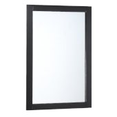 Manchester 20'' Black Traditional Bathroom Mirror, 20'' W x 1'' D x 30'' H
