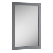 Manchester 20'' Gray Traditional Bathroom Mirror, 20'' W x 1'' D x 30'' H