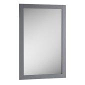Manchester 20'' Gray Traditional Bathroom Mirror, 20'' W x 1'' D x 30'' H