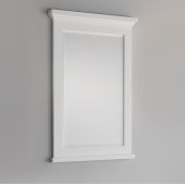 Windsor 24'' Matte White Bathroom Mirror, 24''W x 1-4/5'' D x 34-4/5'' H