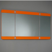 Energia 48'' Orange Three Panel Folding Mirror