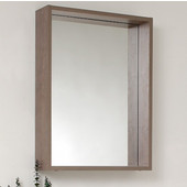 Potenza 21'' Gray Oak Mirror with Shelf