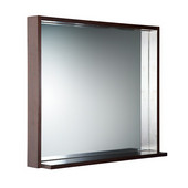 Allier 30'' Wenge Mirror with Shelf