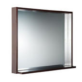 Allier 36'' Wenge Mirror with Shelf
