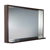 Allier 40'' Wenge Mirror with Shelf
