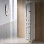 Oxford Freestanding Antique White Tall Bathroom Linen Cabinet, Dimensions: 14'' W x 15-3/4'' D x 68'' H