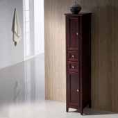 Oxford Freestanding Mahogany Tall Bathroom Linen Cabinet, Dimensions: 14'' W x 15-3/4'' D x 68'' H