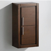 Allier Wenge Brown Wall Mounted Bathroom Linen Side Cabinet with 2 Doors, Dimensions: 15-3/4'' W x 10'' D x 30'' H