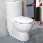 Delphinus One-Piece Dual Flush Toilet, Soft Close Seat, 0.8/1.6 GPF Capacity, 15-1/2''W x 28-1/2''D x 30-1/4''H