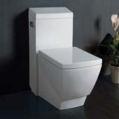 Apus One-Piece Single Flush Square Toilet, Soft Close Seat, 1.6 GPF Capacity, 15''W x 27''D x 31-3/4''H