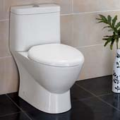 Serena One-Piece Dual Flush Toilet, Soft Close Seat, 0.8/1.6 GPF Capacity, 15-1/5''W x 27-8/9''D x 27-8/9''H